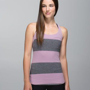 Lululemon Run First Base Tank Top Stripe Mauvelous